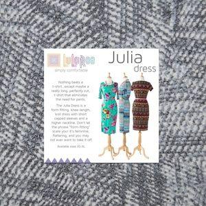 New LULAROE Gray Print Julia Dress NWOT [C6]